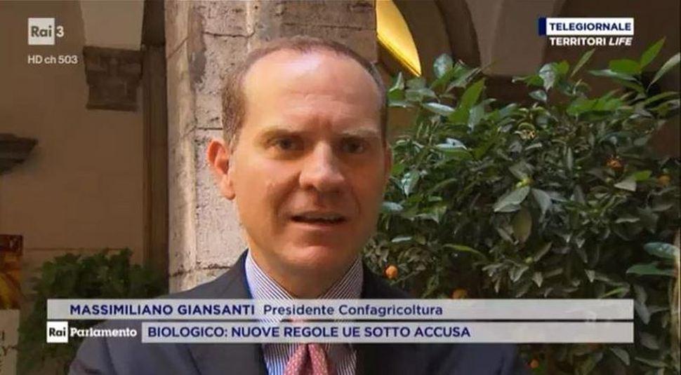 """Nuovo Regolamento Biologico: Giansanti a TG Parlamento """"Territori Life"""" su Rai 3"""